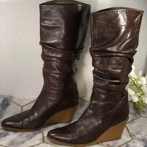 Ferragamo leather tall boots